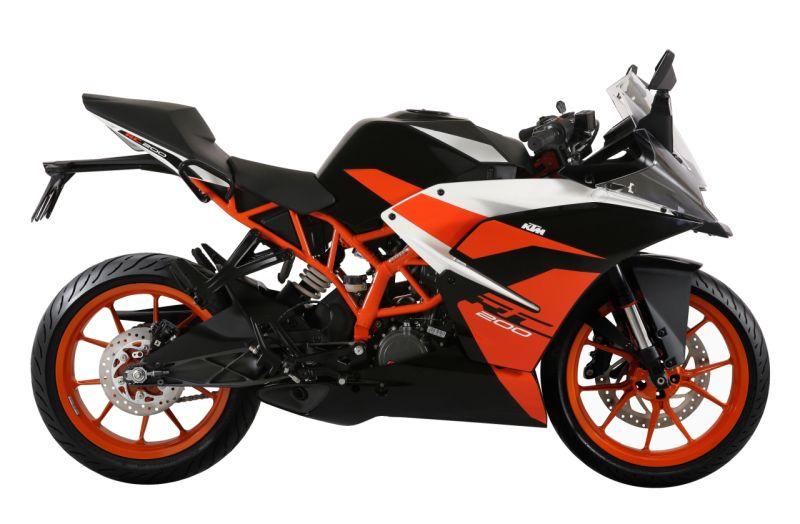 New black colour variant for the KTM RC200