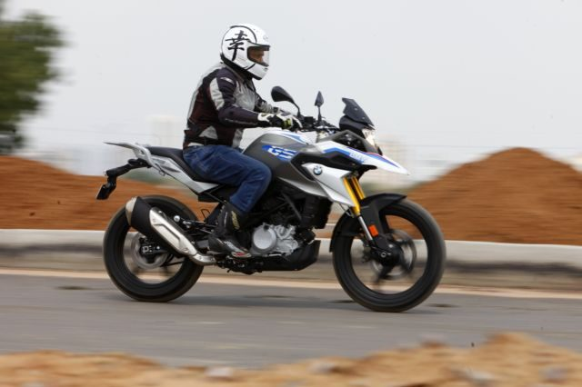 The relaxed and more upright riding position make the BMW comfortable too