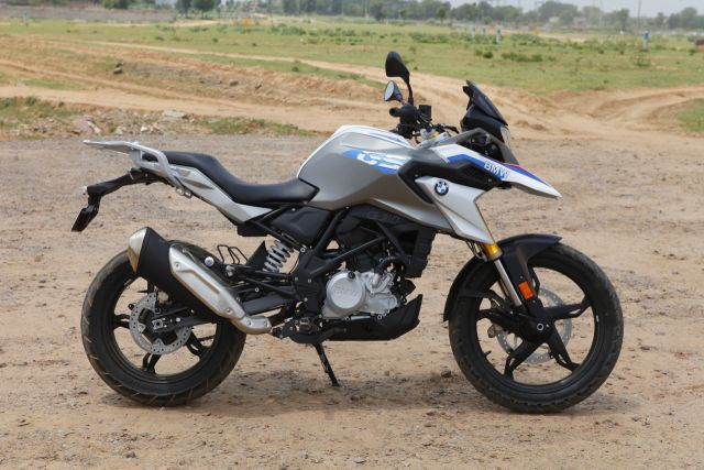 The inspiration from BMW R 1200 GS is evident in the profile of BMW G 310 GS