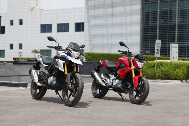 The BMW G 310 R and GS have many parts in common