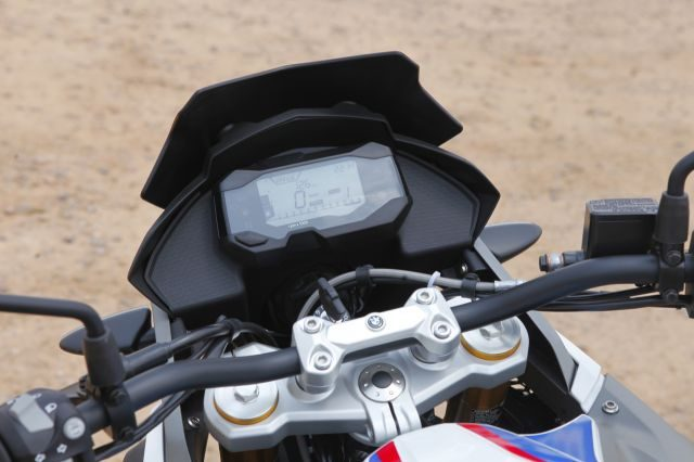 BMW G 310 GS comes with a conventional digital instrument console