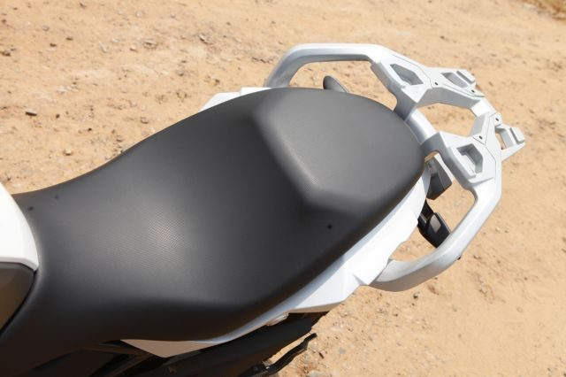 BMW G 310 GS has comfortable seat and also has a luggage rack