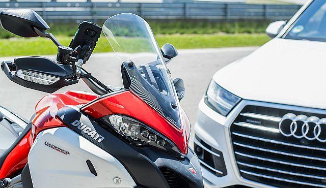 Ducati and Audi Demonstrate New Anti-Crash Test