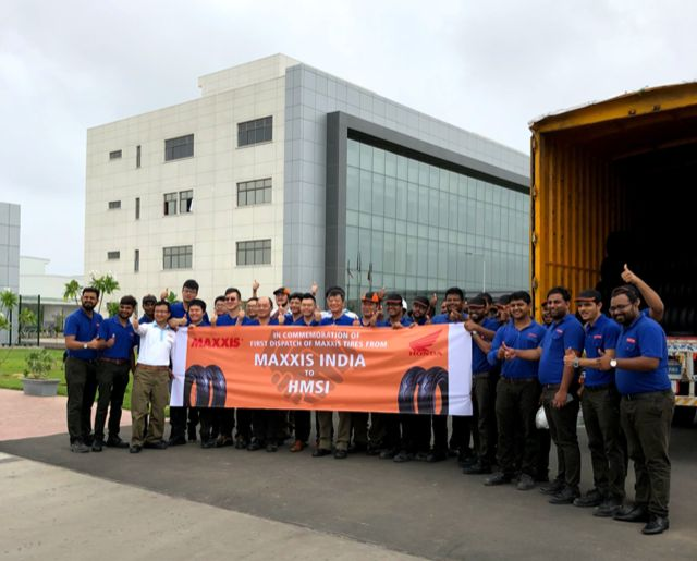 Maxxis roll out first batch of made-in-India tyres for Honda Motorcycle and Scooter India