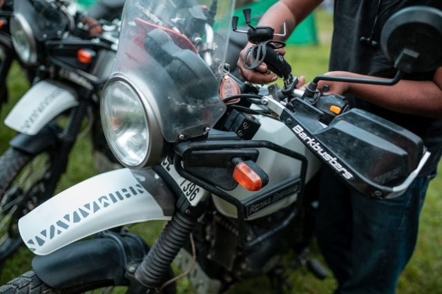 Royal Enfield Unroad Himachal - Barkbusters lever guards are a useful thing to have on the Himalayan
