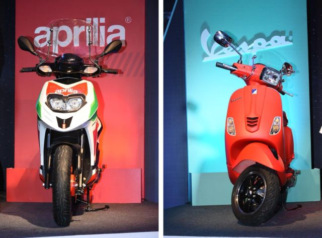 Aprilia SR 150 Race and Vespa SXL launched with digital display and mobile connect
