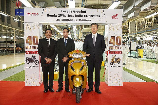 Honda Two Wheelers Hit 40 Million Mark