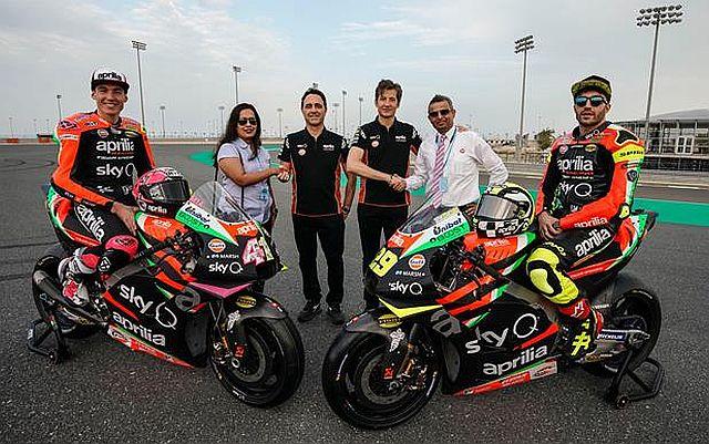 Gulf Partners With Aprilia Racing In MotoGP