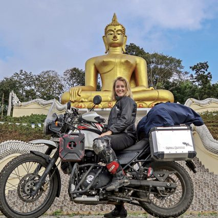 Dutch biker, Noraly, goes exploring on a Royal Enfield Himalayan