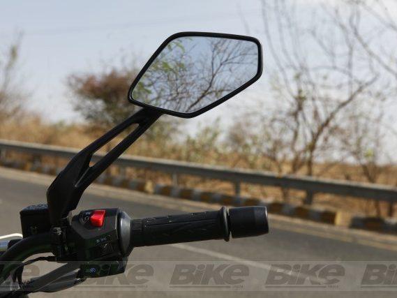Bajaj Dominar new split rear view mirror