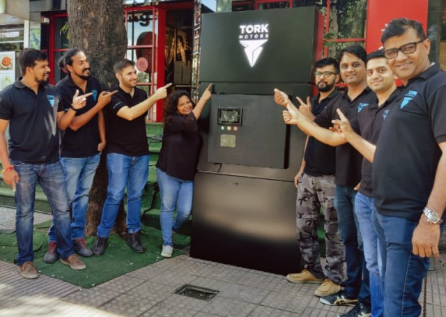 The Tork Motors first EV fast-charging station in Pune