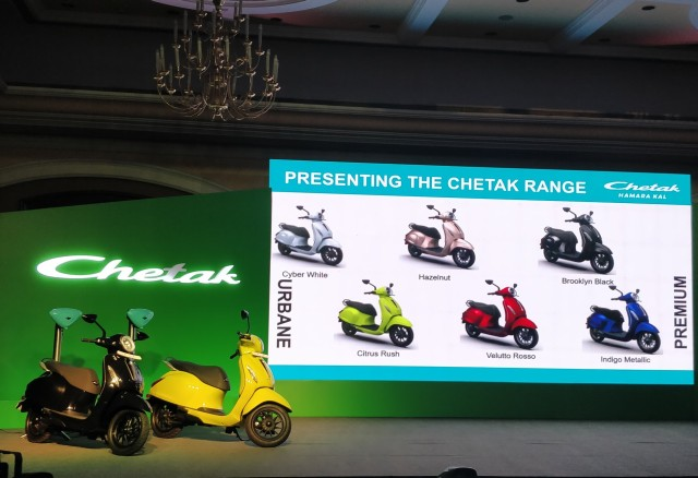 Bajaj Chetak launched at Rs 1 lakh in India