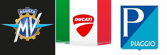 Ducati MV and Piaggio Logo WEB