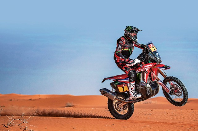 Honda rider Winner of Dakar 2020 Ricky Brabec