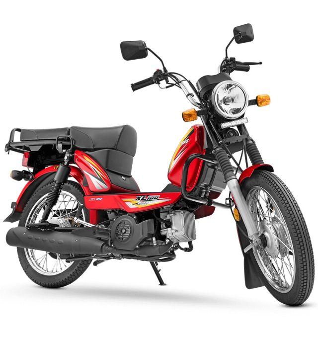 tvs xl100 moped fuel efficient