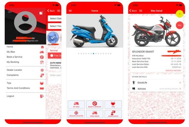 now book hero bike service online