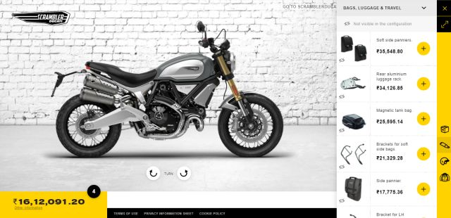 Ducati Scrambler Configurator WEB