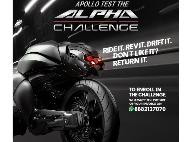 Apollo tyres 30 day cash back offer for motorcycle tyres