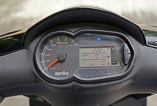 2020 Aprilia SR 160 BS6 instrument features Bike India Review