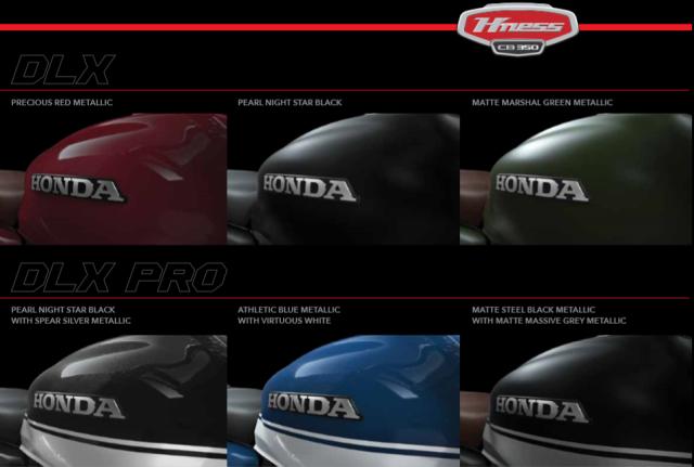 Honda H'Ness colours web