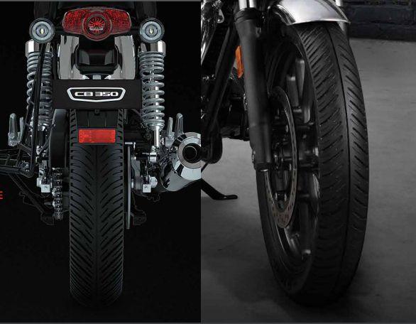 Honda H'ness CB 350 tyres WEB
