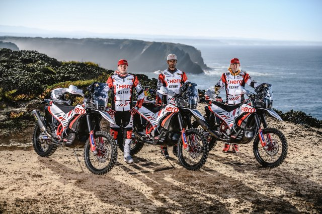 Hero MotoSports Team Rally rider line-up