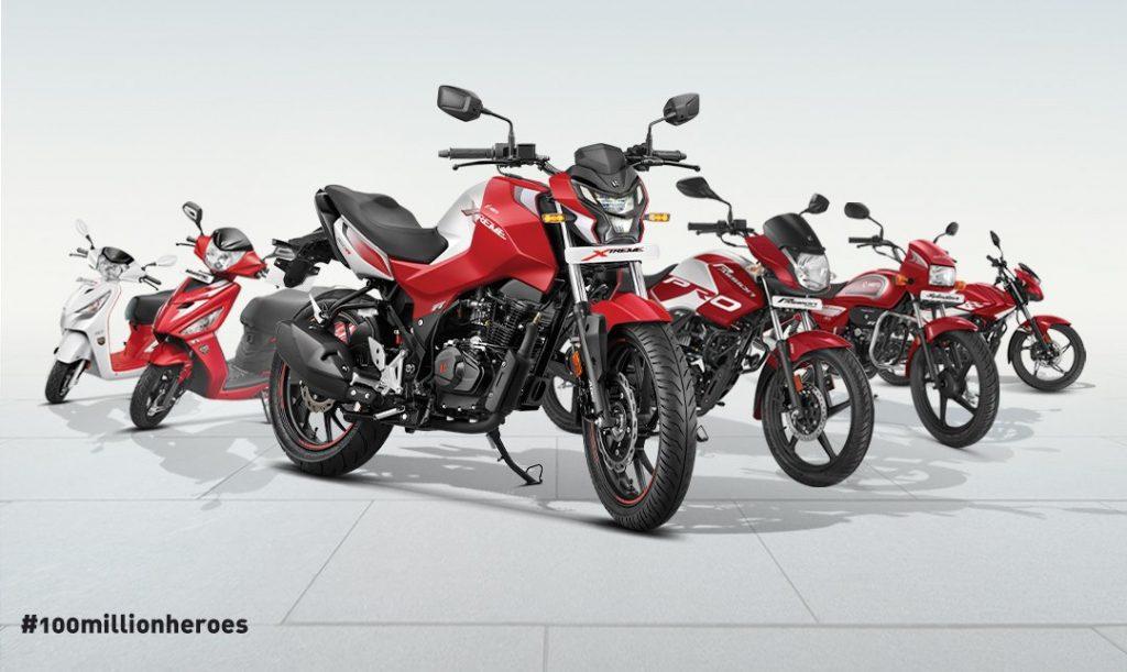 100 million Hero MotoCorp two-wheeler world record