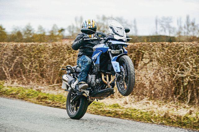 tiger 850 wheely