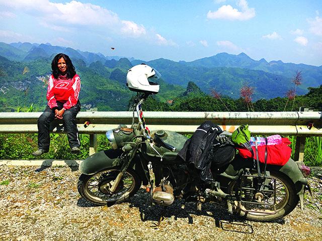 Sangeetha Jairam- motorcycle ride
