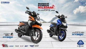 Yamaha RayZR 125 Fi and RayZR SR 125 Fi Hybrid Launched